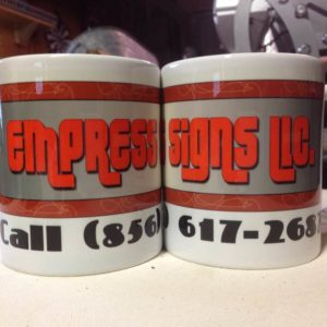 Logo on Mug, Printed Mugs, Sublimated Mugs, 11 Oz Mugs, Order One Mug, Promotional Mugs,