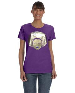 Gold, Purple, Tee Shirt, Woman's Tee, Ladies Tee